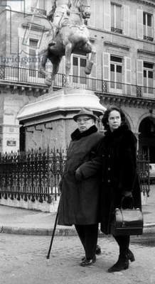 Charles Chaplin and his wife Oona (Oona O'Neill), Paris, February 22, 1973 (photo)