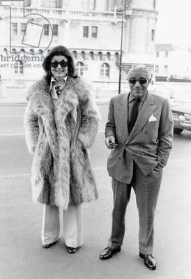 Jackie Kennedy with Aristotle Onassis in Saint Germain en Laye, France, c. 1970 (photo)