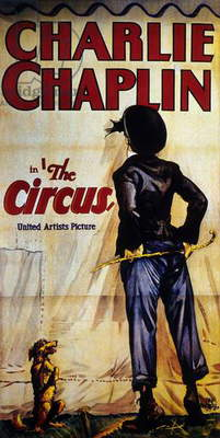 Poster of the film The Circus by Charles Chaplin with Charlie Chaplin, 1928.