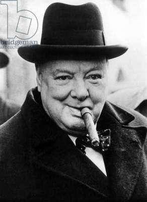 English Prime Minister Winston Churchill (1874-1965) in 1950