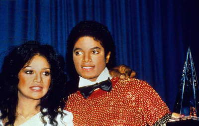 Michael Jackson and sister Latoya at American Music Awards in Hollywood January 1981