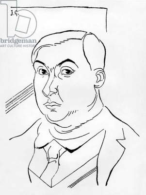 Pierre Reverdy (1889-1960) French poet, drawing by Juan Gris