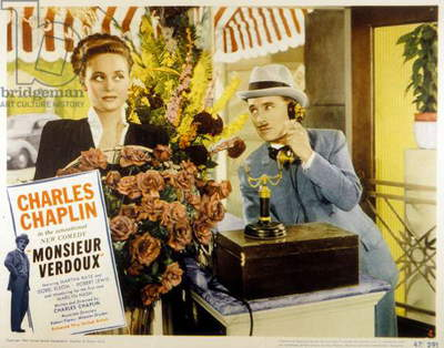 A Comedy of Murders (The Ladykiller) by Charlie Chaplin with Mady Correll, Charlie Chaplin, 1947.
