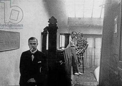 ELT Mesens with Nelly and Theo van Doesburg in Paris, 1923