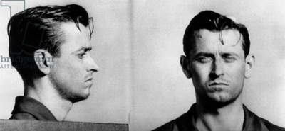 James Earl Ray (1928-1998), future murderer of Dr. Martin Luther King  Jr., arrested for armed robbery, 1952