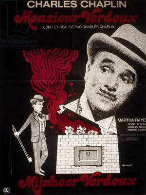 Poster of the film A Comedy of Murders (The Ladykiller) by Charlie Chaplin with Charlie Chaplin, 1947.