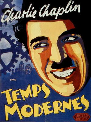 Poster of film Modern times by CharlesChaplin with Charles Chaplin (Charlie Chaplin) 1936