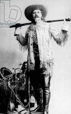 William Frederick Cody aka Buffalo Bill (1846-1917) American pioneer famous for his dexterity of gunman c. 1910