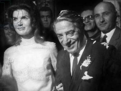 Wedding of Jackie Kennedy and Aristote Onassis October 20, 1968 on Skorpios island (Greece)