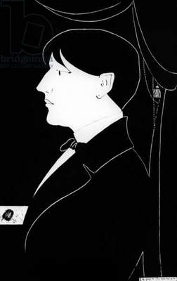 Selfportrait of Aubrey Vincent Beardsley (1872-1898) English writer and illustrator