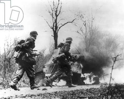 Ardennes battle December 1944 - January 1945 : German infantry