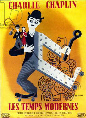 Poster of film Modern times by CharlesChaplin with Charlie Chaplin 1936