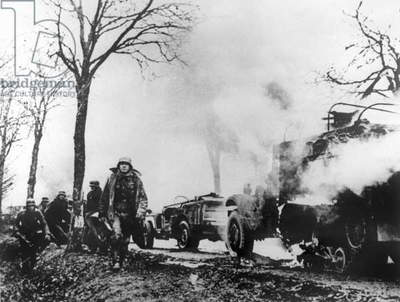 German soldiers during the Ardennes Offensive December 1944 - January 1945