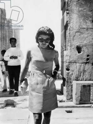 Jackie Kennedy Onassis in Greece in January 1970