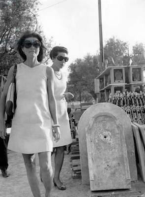 Jackie Kennedy Onassis in Athens, Greece in January 1970