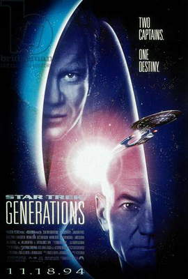 STAR TREK: GENERATIONS, Malcolm McDowell, William Shatner, 1994