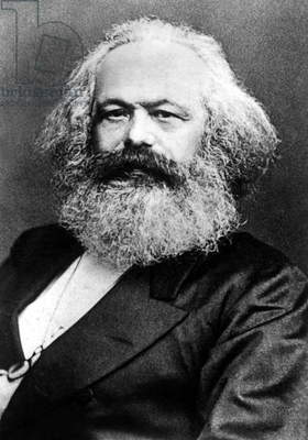 Karl Marx (1818-1883) German politician economist and philosopher one of the authors of Communist Party Manifesto (1848), here c. 1882