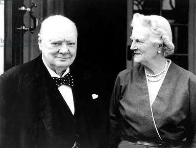 Winston Churchill et Lady Churchill