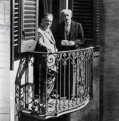 Fiorello La Guardia Et Arturo Toscanini in Milan July 27, 1946 (b/w photo)