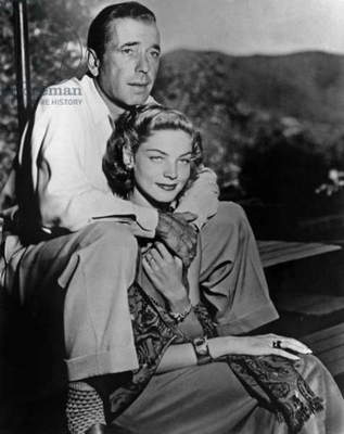 Humphrey Bogart and Lauren Bacall C. 1950 (b/w photo)