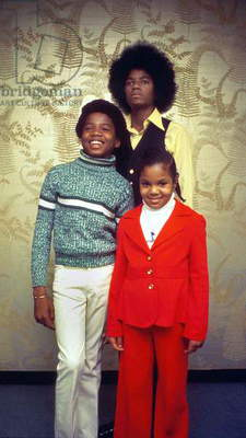 Singer Michael Jackson at 16 With Brother Randy and Sister Janet in 1975 (photo)