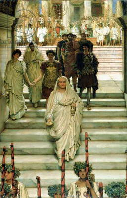 The Triumph of Titus: The Flavians, 1885 (oil on panel)