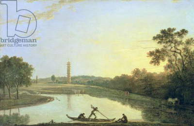 Kew Gardens: The Pagoda and Bridge, 1762 (oil on canvas)