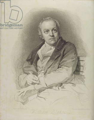 Portrait of William Blake, frontispiece from 'The Grave, A Poem' by William Blake (1757-1827) engraved by Luigi Schiavonetti (1765-1810) 1808 (etching)