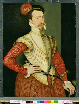 Robert Dudley (1532-88) 1st Earl of Leicester, c.1560s (oil on panel)