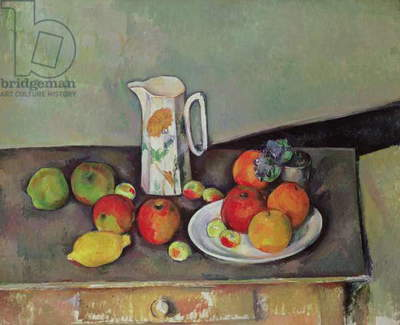 Still life with milk jug and fruit, c.1886-90 (oil on canvas)