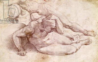 Study of Three Male Figures (after Raphael)