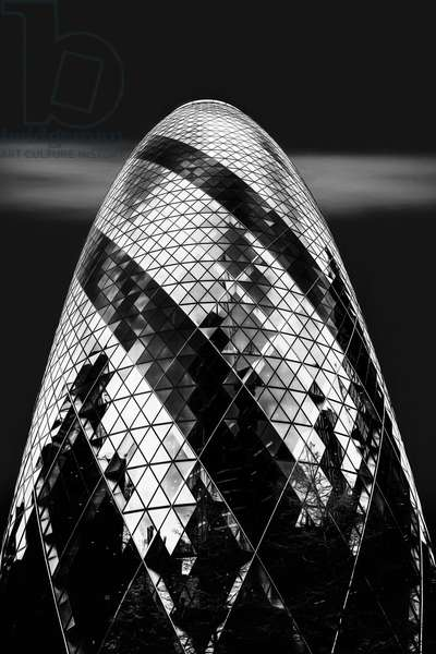 The Gherkin, 2017, (Direct Print on Brushed Aluminium, BUTLERFINISH® Look)