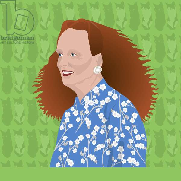 Portrait of Grace Coddington, Creative Director of US Vogue