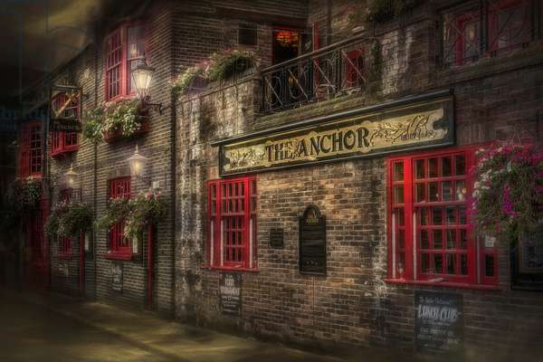 The Old Anchor Pub, 2012, (Direct Print on Brushed Aluminium, BUTLERFINISH® Look)