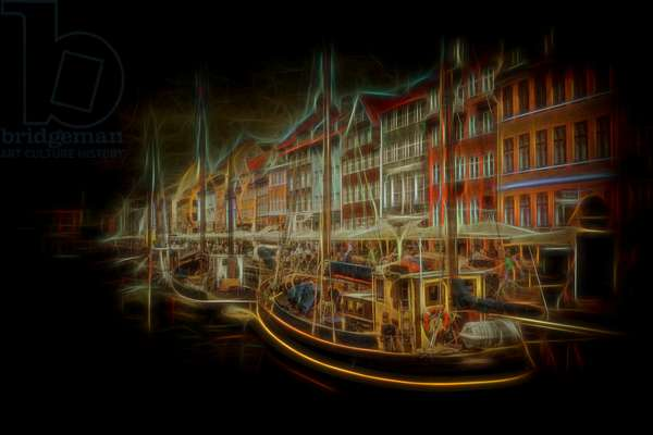 Nyhavn, 2012, (Direct Print on Brushed Aluminium, BUTLERFINISH® Look)