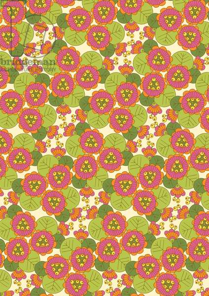 Passion Lily, 2014, Digital Repeat Pattern (Vector)