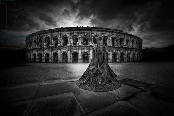 Arena of Nimes, 2015, (Direct Print on Brushed Aluminium, BUTLERFINISH® Look)