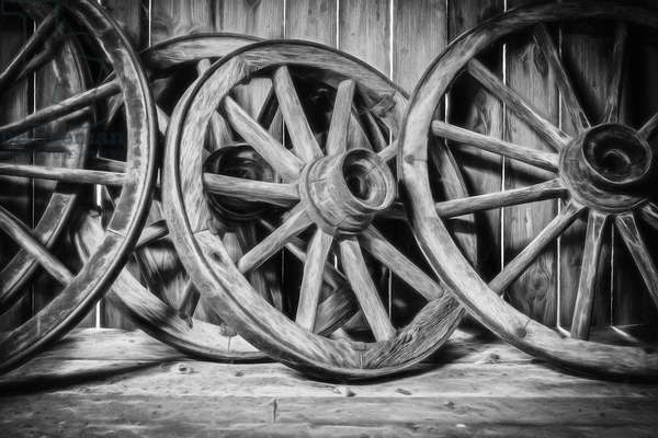 Old Wooden Wheels, 2013, (Direct Print on Brushed Aluminium, BUTLERFINISH® Look)