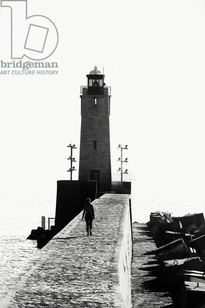 Le phare de Nice, 2017, (Direct Print on Brushed Aluminium, BUTLERFINISH® Look)