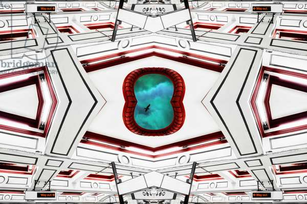 Ceiling portal sky bird, 2014 (digital image)