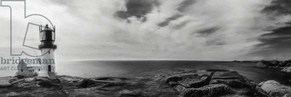 Lindesnes Lighthouse Panorama, 2016, (Direct Print on Brushed Aluminium, BUTLERFINISH® Look)