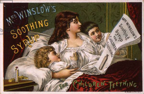 Mrs. Winslow's Soothing Syrup for Children Teething (litho [trade card])