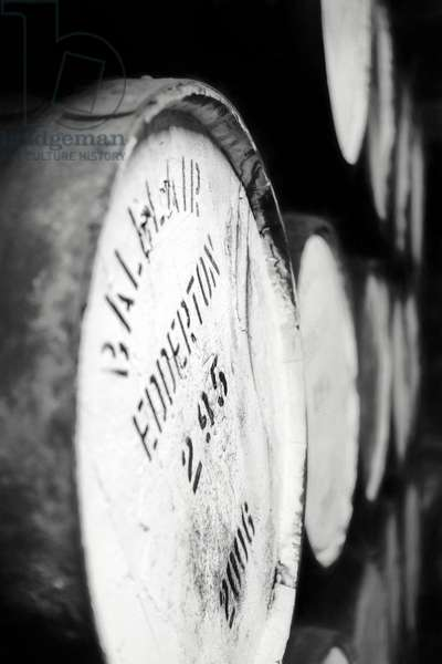 Barrels of whisky Part 3, 2017, (Direct Print on Brushed Aluminium, BUTLERFINISH® Look)
