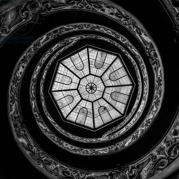 The Bramante Staircase, 2011, (Direct Print on Brushed Aluminium, BUTLERFINISH® Look)
