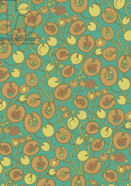 Field Penny Cress, 2016, Digital Pattern Design (Vector)