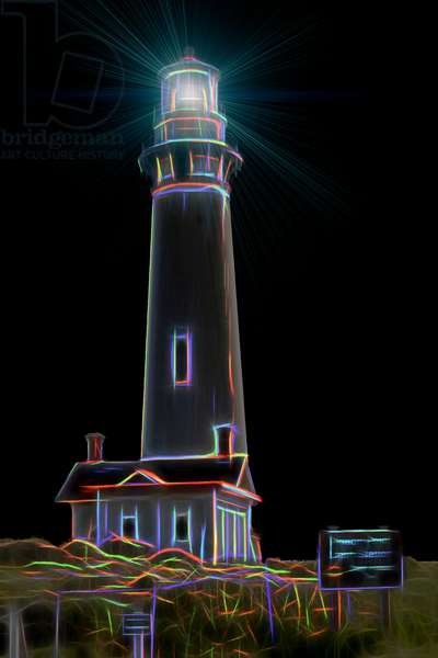 Pigeon Point Light Station, 2016, (Direct Print on Brushed Aluminium, BUTLERFINISH® Look)