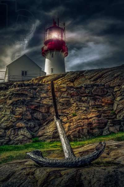 Lindesnes Lighthouse Part 2, 2018, (Direct Print on Brushed Aluminium, BUTLERFINISH® Look)