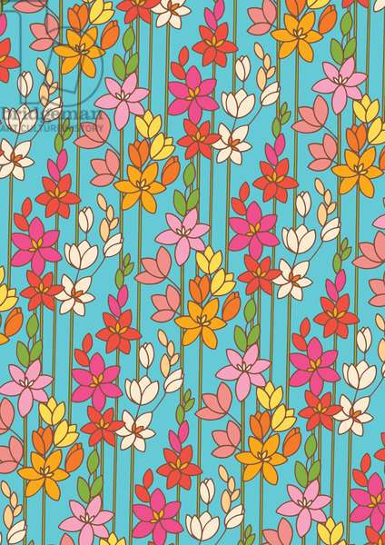 Ixia, 2014; Digital Pattern Design (Vector)