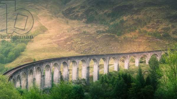 Glenfinnan Viaduct Part 2, 2017, (Direct Print on Brushed Aluminium, BUTLERFINISH® Look)