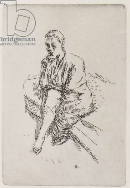 Seated figure, 1930 (etching)